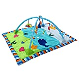Dovewill Baby Toys Animals Educational Crawling Activity Mat Play Gym Carpet Puzzle Mat - Ocean, as described