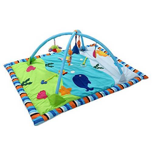 Jili Online Baby Gym Activity Soft Cotton Musical Playmat Play Mat with toys for Boy or Girl - Ocean, as described by Jili Online