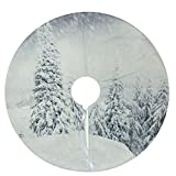 "Northlight 23.6"" Winter's Beauty Snowy Woodland Decorative Mini Christmas Tree Skirt"