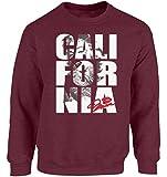 Vizor Unisex Marilyn Monroe California Crewneck Sweatshirts Vintage California Gift Maroon M