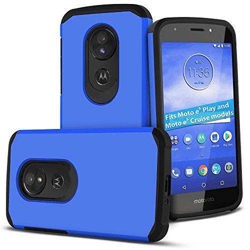Celljoy Case compatible with Motorola Moto E5 Play, Moto E5 Cruise models ONLY [Liquid Armor] ((Shock Proof)) Tough Slim Protection [Hybrid Bumper TPU Skin Hard Plastic Shell] (Matte ()