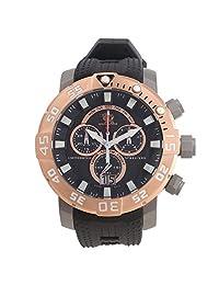 Invicta Men's 'Sea Base' Swiss Quartz Titanium and Polyurethane Casual Watch, Color:Black (Model: 14260)