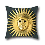 elegancebeauty throw cushion covers of ancient egyptian sun mask 20x20 inch pillow case,for relatives,sofa,wedding,kids,wedding,valentine 20 x 20 inches / 50 by 50 cm(twice sides)