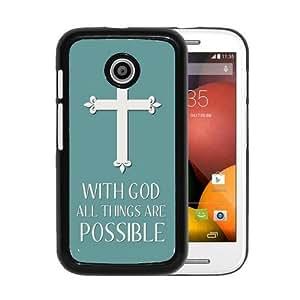 RCGrafix Brand Christian Cross Quote Motorola Moto E Cell Phone Protective Cover Case - Fits Motorola Moto E
