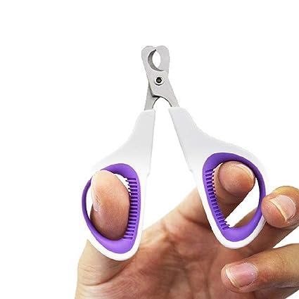 Ogquaton Tijeras cortadoras de uñas Profesionales para Gatos de Acero Inoxidable para Mascotas Claw Trimmer Tijeras para Gatos (púrpura)