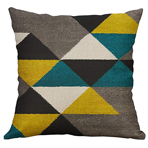 Amazon.com: Aoesila Irregular Geometric Pattern Pillow Case ...
