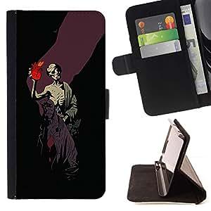 Momo Phone Case / Flip Funda de Cuero Case Cover - Gótica del cráneo infierno Boy;;;;;;;; - LG OPTIMUS L90