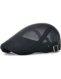 3b523f4f Men Breathable mesh Summer hat Newsboy Beret Ivy Cap Cabbie Flat Cap