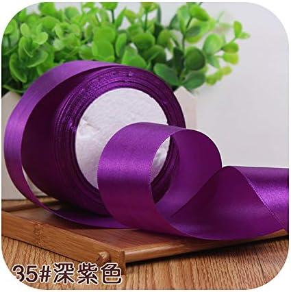 kawayi-桃 6/10/15/20/25/40 / 50mmサテンリボンDIY人工シルク工芸用品ソーイングアクセサリースクラップブッキング素材ギフトボックスベルト-dark purple-15mm