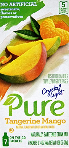 Crystal Light Pure Tangerine Mango On The Go Drink Mix, 7-Packet Box (50 Box Pack) by Crystal Light
