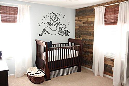 Wall Vinyl Sticker Decals Mural Room Design Pattern Art Alice In Wonderland Cartoon bo1587 - Alice Pattern