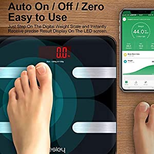 Hesley Bluetooth Body-fat Analysing Scale in India 2020