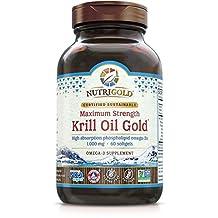 Nutrigold Krill Gold - Neptune Krill Oil (Double Strength NKO), 1000 mg, 60 softgels