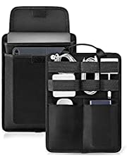 tomtoc 13 inch Slim Laptop Sleeve Electronic Accessory Organizer for 2018 New MacBook Pro & Air 13 inch and Cable Charger Hard Drive USB Hub Power Bank, Travel Tech Gear Management Case Bag, Black