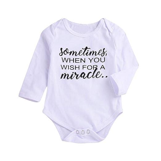 b507b37f13f8 Amazon.com  24 Month Toddler Baby Boys Girls Long Sleeve Romper ...