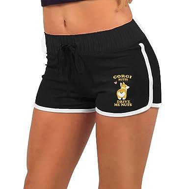 d9ad2e9e40 Girl's Cute Corgi Butts Summer Sexy Low Waist Beach Yoga Hot Pants Gym Home  Mini Athletic Shorts at Amazon Women's Clothing store: