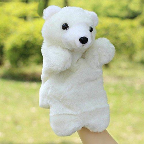TOYMYTOY Marionnette à Main Animaux en Peluche Marionnettes à gant Ours Blanc