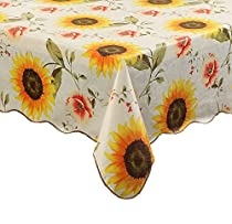 Cz001 Engineered Flannel Backed Vinyl Tablecloth Oblong(rectangle) (46-Inch by 59-Inch oblong(rectangle))