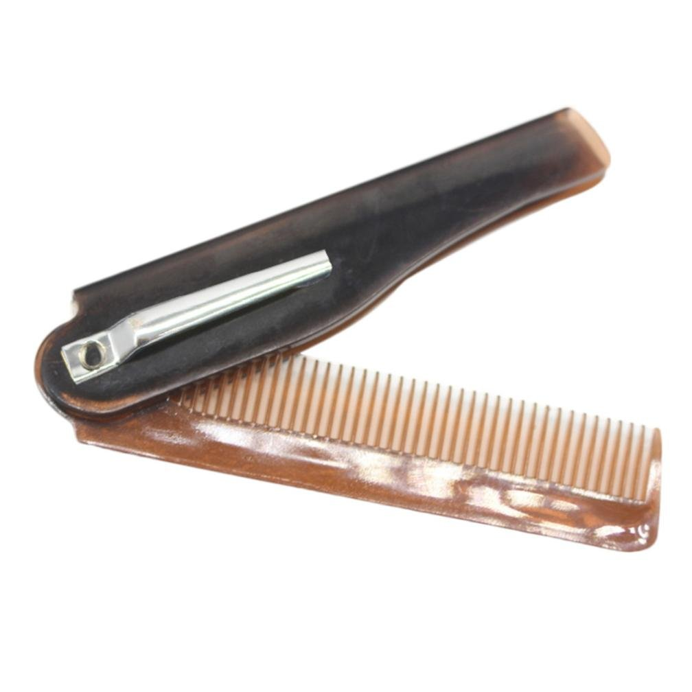 Baomabao Folding Beard And Hair Comb Hairdressing Beauty Tools For Men (Silver)
