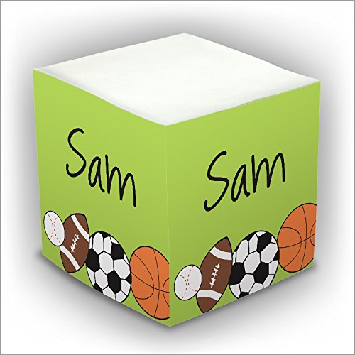 Personalized Self Stick Memo Cube - Sports Balls - 2807_23