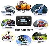 Magicalmai Inductive Hour Meter for Gas Engine Lawn Mower Dirt Bike Motorcycle Motocross Snowmobile Karting Marine ATV Boat Outboard Motor Generator WaterproofHour Meters