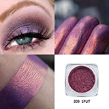 Hennta Sexy Glitter Powder Shimmering Colors Eyeshadow Metallic Eye Cosmetic Makeup Eye Powder PaletteWaterproof Sweat-Proof Long Lasting Pigmented