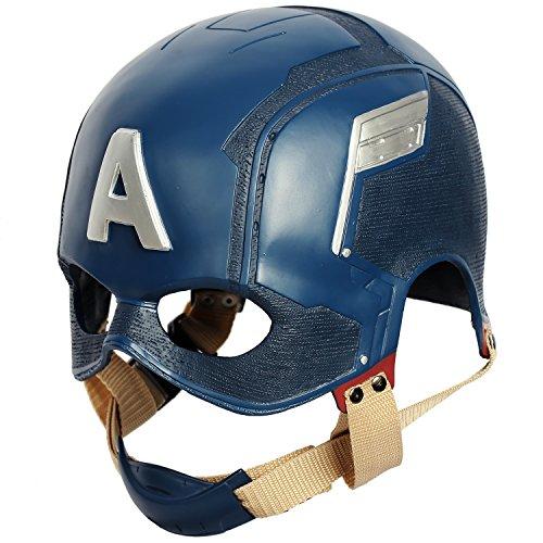 Captain America Mask Helmet for Adult Civil War Cosplay ()