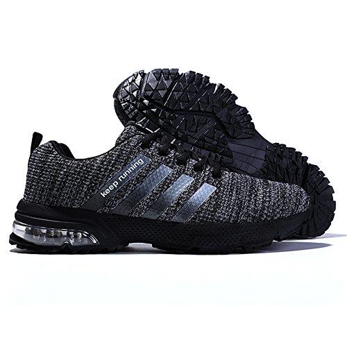 Ginnastica Casual Sportive Shoes Corsa Sneakers Running All'aperto Basse Donna Grigio Fitness Air Da Scarpe Uomo UHgfqw