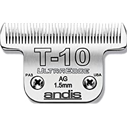 Andis Carbon-Infused Steel UltraEdge Dog Clipper Blade, Size-T-10, 1/6-Inch Cut Length (22305)