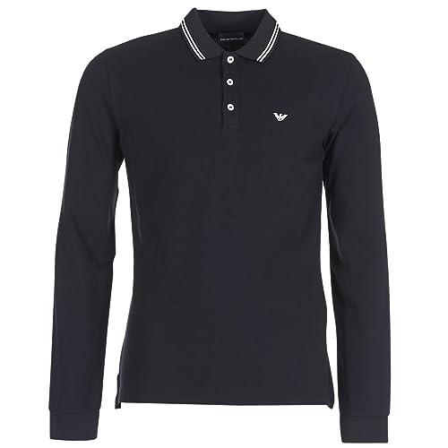 EMPORIO ARMANI TEWA Tops y Camisetas Hombres Negro Polos Manga Larga: Armani: Amazon.es: Zapatos y complementos
