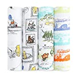 aden-anais-Disney-Swaddle-Blanket-Boutique-Muslin-Blankets-for-Girls-Boys-Baby-Receiving-Swaddles-Ideal-Newborn-Infant-Swaddling-Set-Perfect-Shower-Gifts-Winnie-The-Pooh