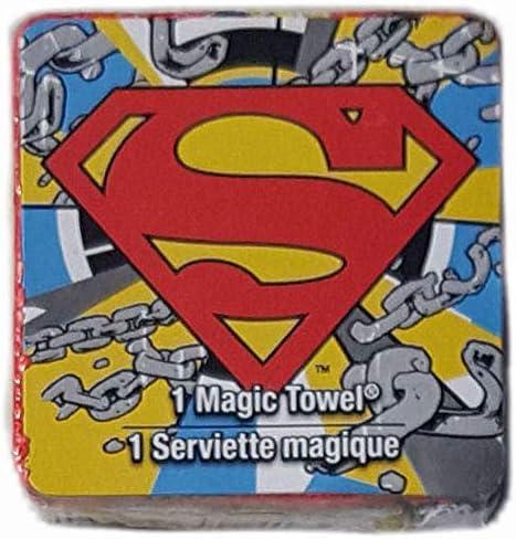 2 Count DC Comics Superman Magic Towel Washcloth Bundle