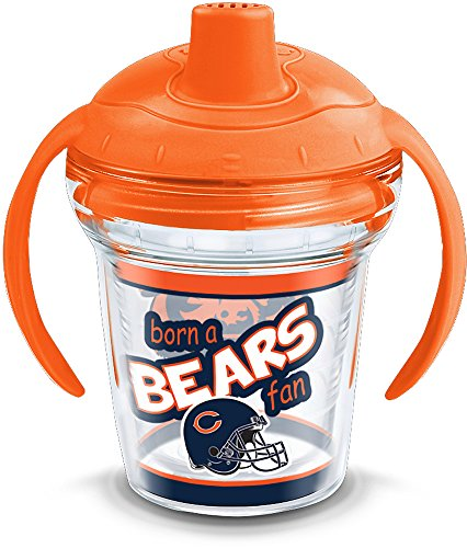 Tervis 1290877 NFL Chicago Bears Born A Fan Sippy Cup, 6 oz, Clear]()