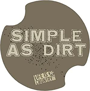 Thirstystone Simple as Dirt Car Cup Holder Coaster, 2-Pack