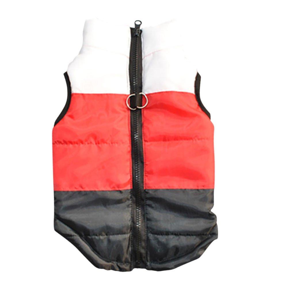 Pet Supplies : PanDaDa Puppy Pet Dogs Padded Vest Harness Warm Coats Jackets Rose Red : Amazon.com