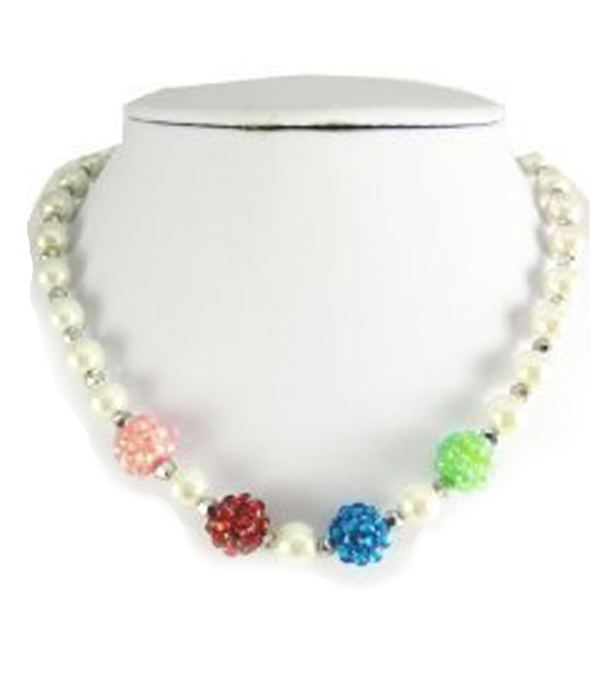 V G S Eternity Fashions Fashion Jewelry ~Girls Pearls Set~ Imitation Pearls Accented with Multi Crystals (Multi)