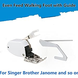 Even Feed Walking Sewing Machine Presser Foot with Quilt Guide for Brother Singer Janome by Linkhome