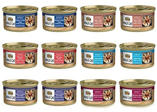 Nutro Max Cat Adult Canned Food 6 Flavor Variety Bundle:  Tu
