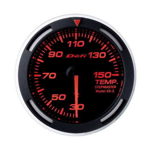 Defi DF06705 Racer Metric Temperature Gauge, Red, 52mm ()