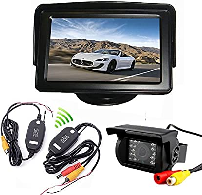 "Wired IR Rear View Backup Camera Night Vision System 4.3/""  LCD Monitor-BE"