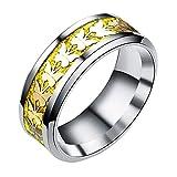 Uscharm Women Rings Bohemian Vintage Silver Rings Boho Butterfly Rings Finger Rings Golden (GD8)