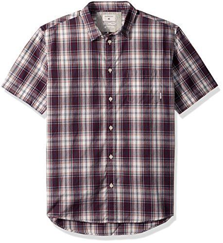 Quiksilver Men's Tidal Short Sleeve Shirt, Dark Denim, ()