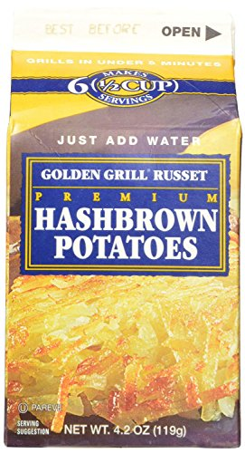 Golden Grill Russet Hashbrown Potatoes Net Wt 4.2 Ounce (119g) (16 Count Pack)