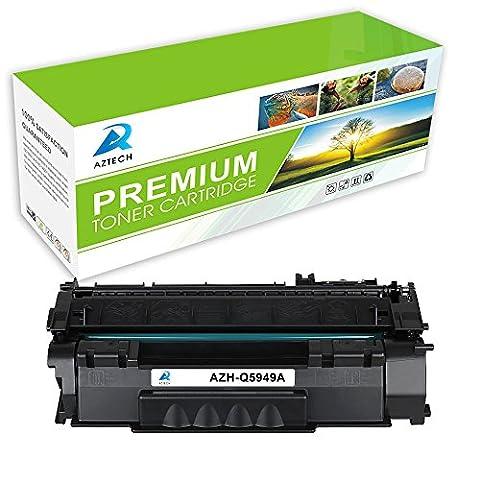Aztech 1 Pack Replaces Q5949A 49A Q7553A 53A Black Toner Cartridge For LaserJet 1160 1320 1320N 1320TN 1320NW 3390 3392, LaserJet P2014 P2014n P2015 P2015d P2015n P2015dn - P2015x Laser Printer