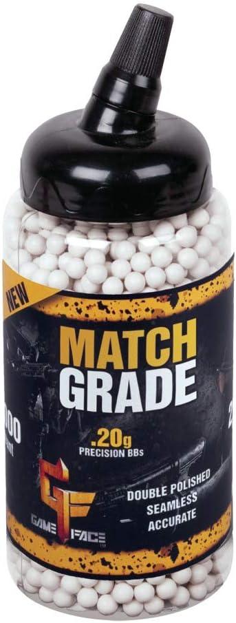 GameFace SAP2020E Match Grade Biodegradable .20-Gram White Airsoft BBs (2000-Count) : Airsoft Guns : Sports & Outdoors