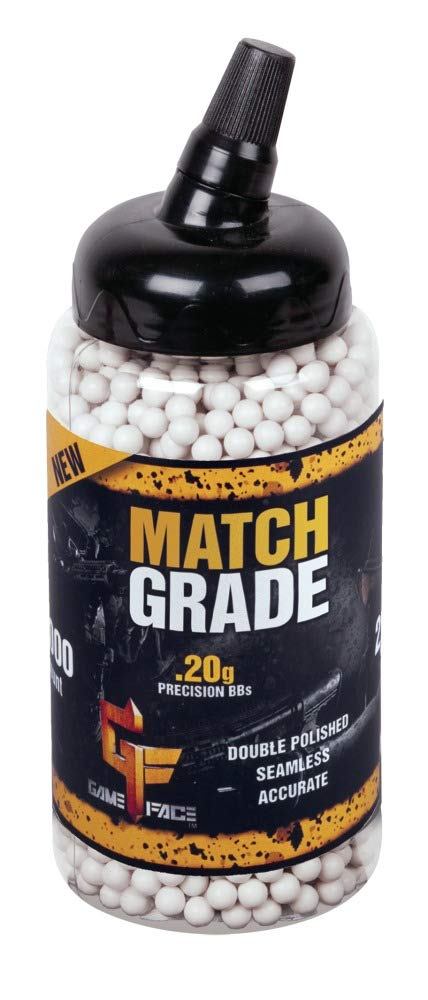 GameFace SAP2020E Match Grade Biodegradable .20-Gram White Airsoft BBs (2000-Count)