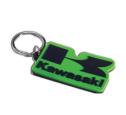 Kawasaki Logo Rubber Keychain Green