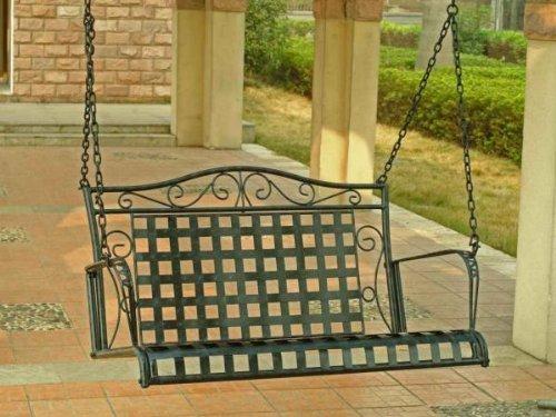 International Caravan Mandalay Iron 4-ft Porch Swing