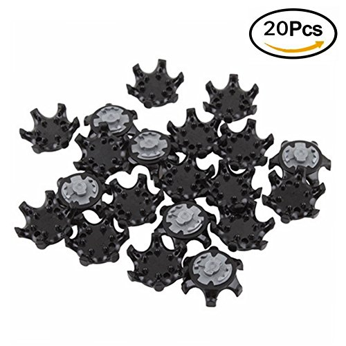 20Pcs Black Easy Replacement THiNTech Spikes Cleats 2010 Golf (Replacement Spikes Cleats)