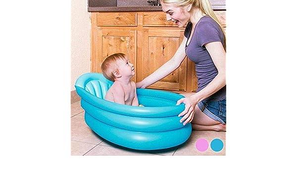 Kiokids 1319 - Bañera hinchable bebé, unisex, color azul: Amazon ...